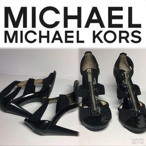 Michael Kors Black straps stiletto Sandals,